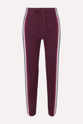 Etoile Isabel Marant Darion Striped Knitted Track Pants - Burgundy