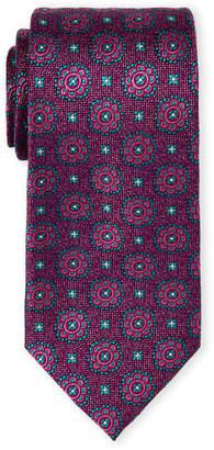 Ted Baker Pink Floral Medallion Silk Tie