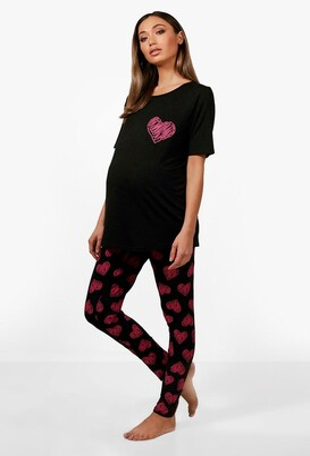 boohoo Maternity May Made With Love Pajama Set