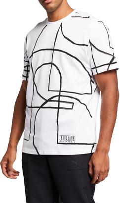 Puma Men's Allover Court-Print T-Shirt