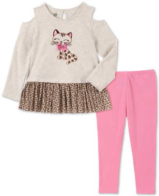 Kids Headquarters Baby Girls 2-Pc. Long Sleeve Cat Tunic & Leggings Set