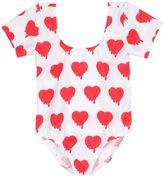Caroline Bosmans Hearts Printed Lycra Bodysuit