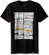 Famous Stars & Straps Mens Punk Tapes Short-Sleeve Shirt