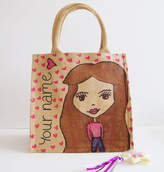 Hurley Sarah Hand Painted And Personalised Dollybelles Glitter Bag