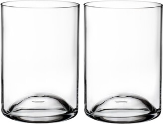 Waterford Elegance Set of 2 Lead Crystal Double Old Fashioned Glasses