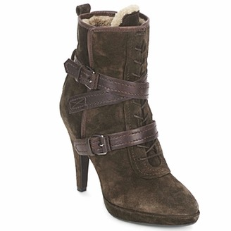Apepazza AIDA women's Low Ankle Boots in Brown