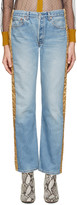 Bless Blue & Gold Padded Jeans
