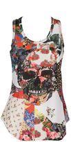 Alexander McQueen Floral Skull Tank Top