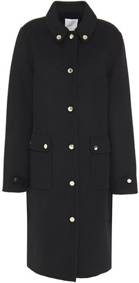 Sandro Dameen Wool And Cotton-blend Felt Coat