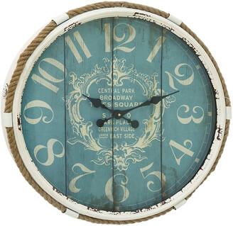 Uma Enterprises Rope Glass Wall Clock