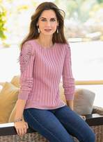 Together Cut-Out Lace Sweater