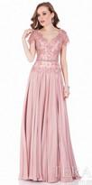 Terani Couture Beaded Chiffon A-line Evening Dress