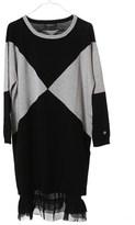Twin-Set Women's Grey/black Wool Dress.