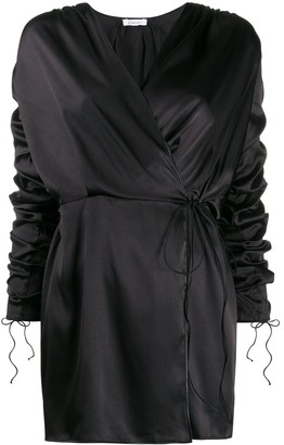 Oseree Wrap-Style Mini Dress