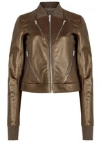 Rick Owens Gold Cropped Leather Jacket