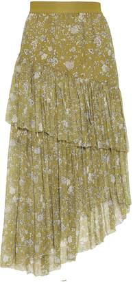 Zimmermann Floral-print Layered Silk-georgette Midi Skirt