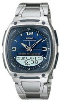 Casio Men's Analog and Digital Watch - Blue/Silver (AW81D-2AV)