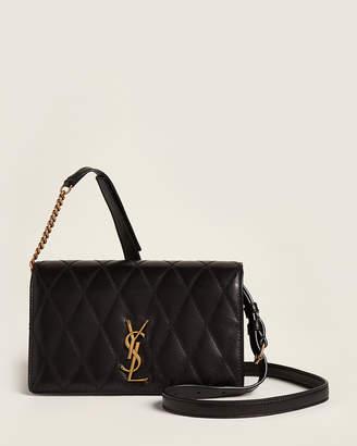 Saint Laurent Black Angie Quilted Leather Shoulder Bag