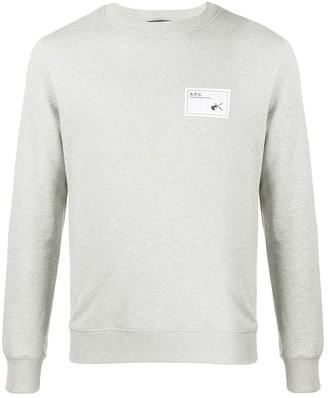 A.P.C. Logo Patch Crew-Neck Sweatshirt