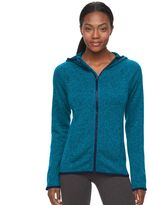 Tek Gear Petite Marled Fleece Full-Zip Hoodie