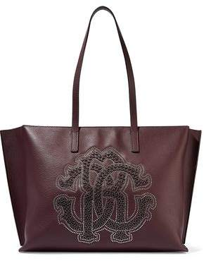 Roberto Cavalli Studded Pebbled-leather Tote