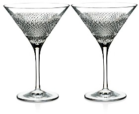 Waterford Diamond Line Martini Glasses, Set of 2