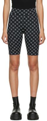 Misbhv Black Reflective Monogram Biking Shorts