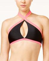 Bikini Nation Block and Roll Colorblocked Halter Bikini Top