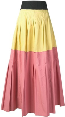 Plan C colour block maxi skirt