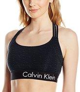 Calvin Klein Women's Logo Elastic Basketweave Bra