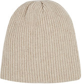 The Elder Statesman Men's Watchman Cashmere Cap-NUDE