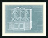 Amanti Art Framed Art Print 'Chippendale Library Bookcase II' by Thomas Chippendale