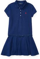 Ralph Lauren Velvet Bow Stretch Polo Dress