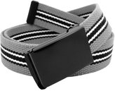 Build A Belt Boys School Uniform Flip Top Black Belt Buckle with Canvas Web Belt Small