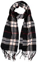 C&J Men's Winter Scarf Classical Cashmere Plaid Scarf Shawl (MSCF-26)