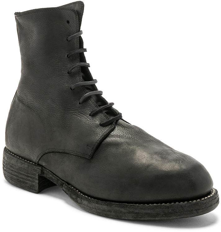 Guidi Leather Lace Up Boots