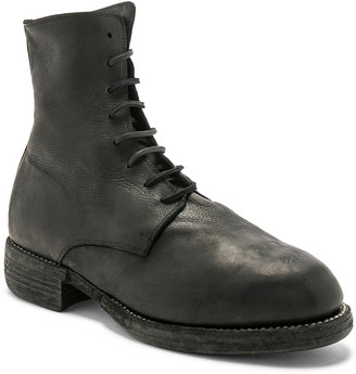 Guidi Leather Lace Up Boots in Black | FWRD