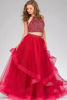 Jovani Two-Piece Long Tulle Prom Gown 46404