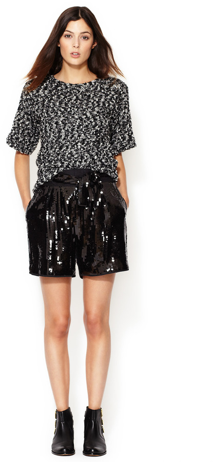 See by Chloe High Waisted Sequin Belted Short