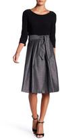 Eliza J 3/4 Length Sleeve Twofer Dress