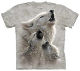 The Mountain Wolf With Cubs Singing Lesson Kids T-Shirt - Kids