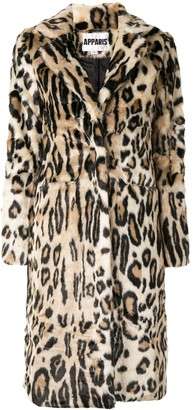 Apparis Karlie leopard faux-fur coat
