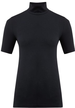 Wolford Roll Neck Shirt - Womens - Black