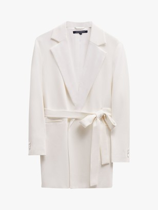 French Connection Amato Bridal Tux Wedding Suit Jacket, Summer White