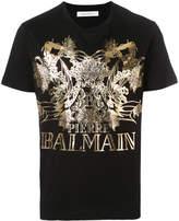 Pierre Balmain fish print logo T-shirt