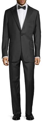 Hickey Freeman Classic Fit Wool Peak Lapel Tuxedo