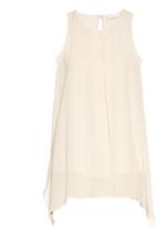 Brunello Cucinelli Pleated silk-blend crepe top