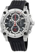 Bulova Men's Champlain Collection Precisionist Black Dial Black Strap Chronograph Watch