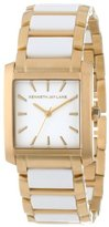Kenneth Jay Lane Women's KJLANE-1607 900 Series White Dial Gold Ion-Plated Stainless Steel and White Resin Watch