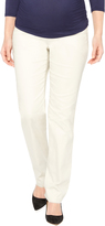 Motherhood Petite Secret Fit Belly Sateen Straight Leg Maternity Pants